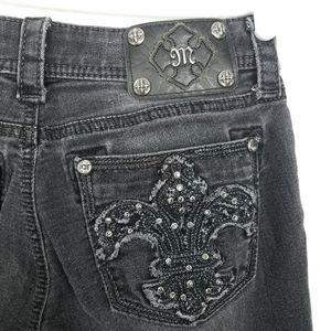 Miss Me Signature Skinny Black Rhinestone Jeans